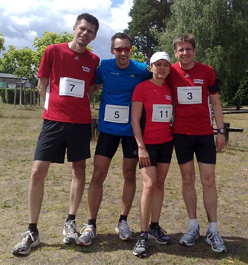 Läufer nach dem Lauf