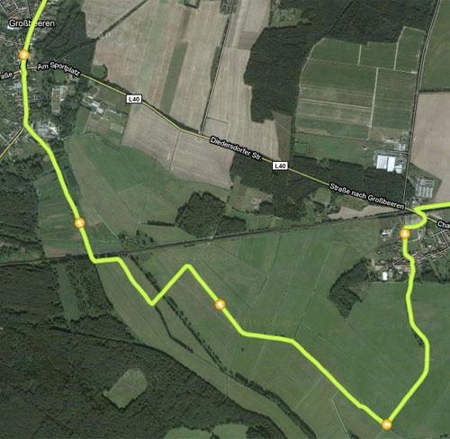 Karte mit Ausschnitt Diedersdorf