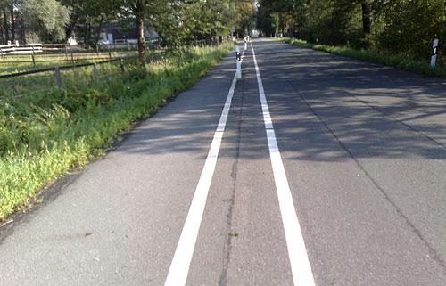 Fahrbahnmarkierungen am Ehlersdamm