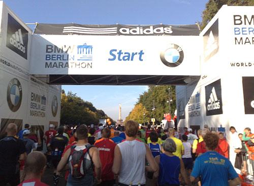 Marathon-Läufer kurz vor der Startlinie