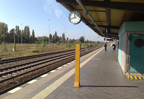 Leerer S-Bahnhof