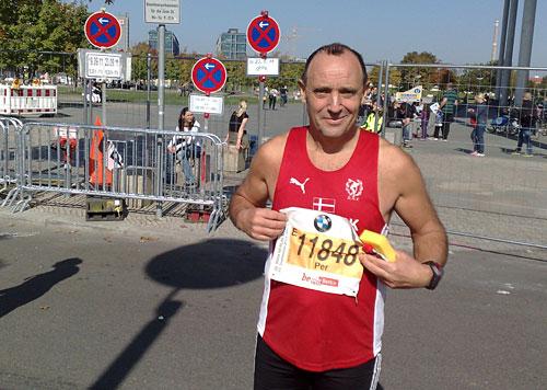 Dänischer Marathon-Läufer
