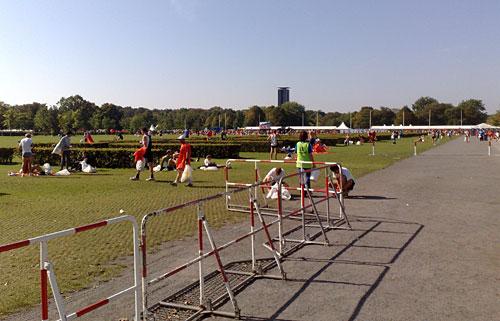 Marathon-Zielgebiet am Reichstag