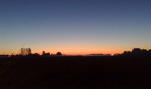 Sonnenaufgang im Herbst am Diedersdorfer Weg