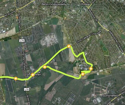 Karte der Strecke