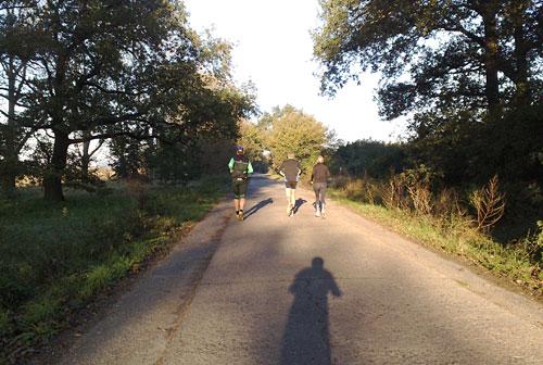 Läufer in der Morgensonne