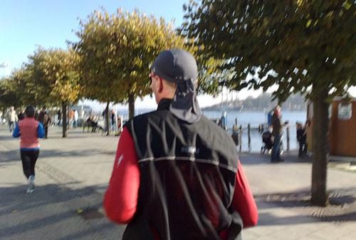 Läufer auf der Promenade