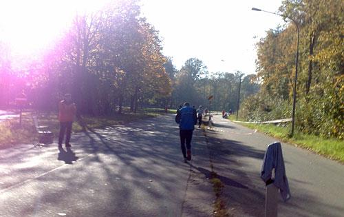 Läufer in der Kurve der Mecklenburger Straße