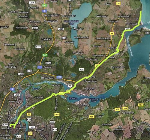Strecke Lübeck-Marathon