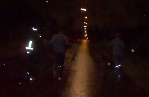 Läufer im Nieselregen