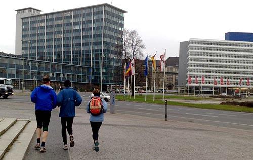 Läufer am Ernst-Reuter-Platz