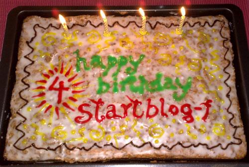 Geburtstagskuchen mit Aufschrift happy birthday startblog-f