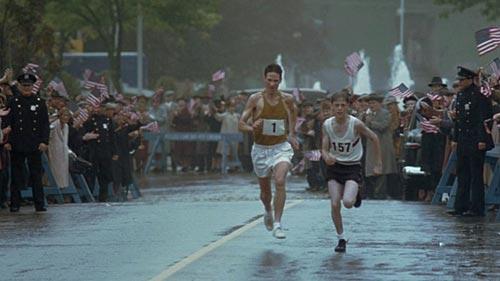 Läufer auf Zielgeraden