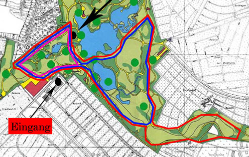 Streckenplan Britzer-Garten-Lauf