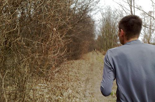 Läufer läuft voraus