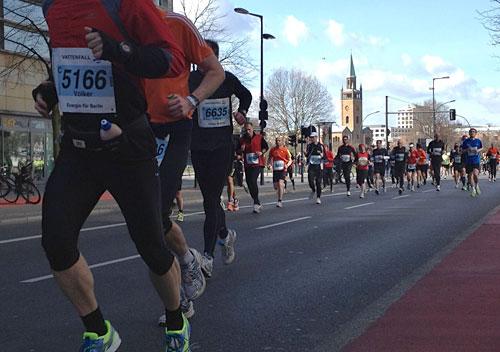 Läufer beim Halbmarathon