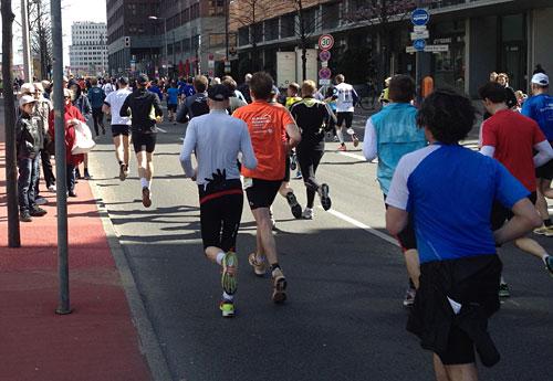 Läufer von hinten
