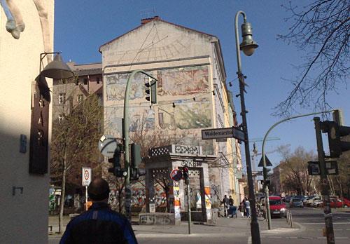 Wandmalerei in Kreuzberg