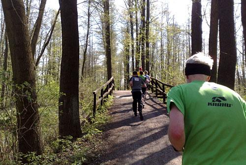 Brücke beim Spreewald-Halbmarathon