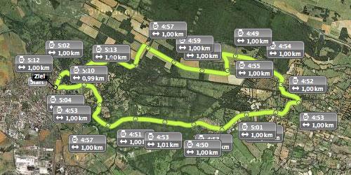 Streckenplan des Spreewald-Halbmarathon 2012