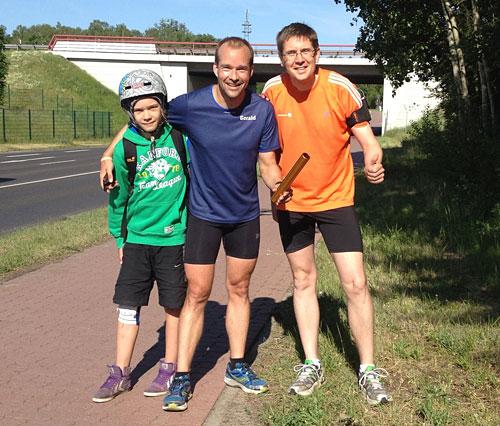Läufer mit Staffelstab in Erkner