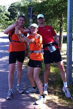 Läufer der Staffel Berlin-Kostrzyn in Lichtenow
