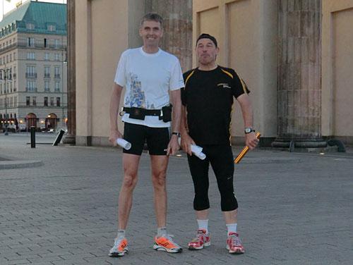 Läufer am Brandenburger Tor