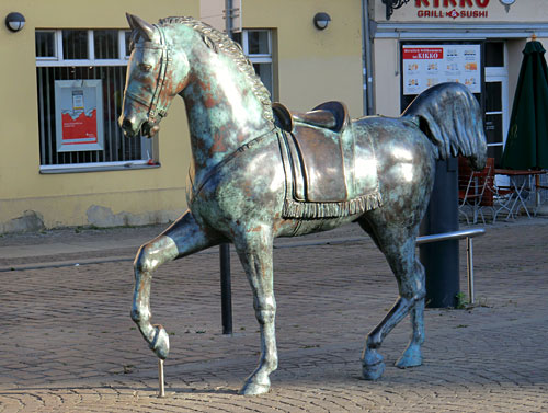 Bronze-Pferd in Köpenick