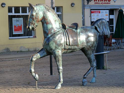 Bronze-Pferd in Köpenick
