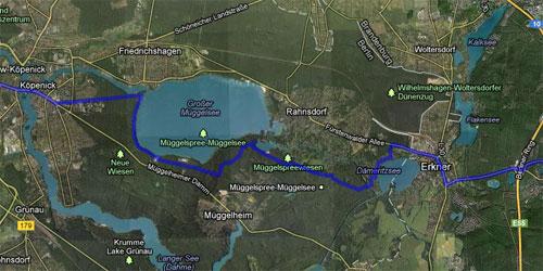Karte mit der Strecke der Etappe 2