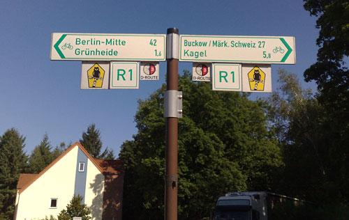 Schilder Europaradweg R1