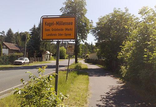 Ortsschild Kagel-Möllensee