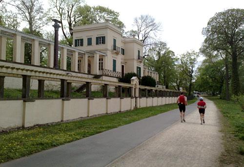 Läufer kurz vor dem Ziel des Potsdamr Drittelmarathon