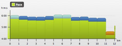 Grafiken mit Laufgeschwindigkeiten beim dritten Lauf
