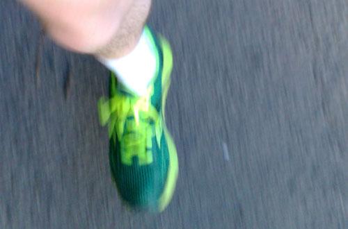 Läufer-Fuß mit Mirage-Laufschuh