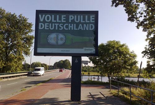 Plakat Volle Pulle Deutschland, Werbung für das Bremer Bier Hemelinger