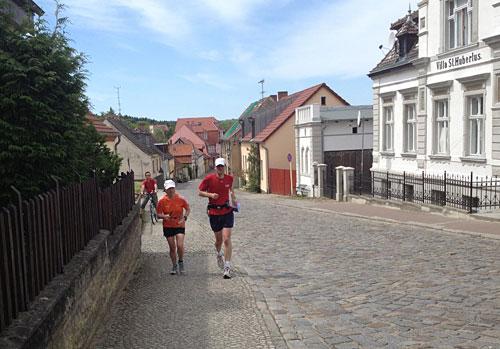 Läuferin und Läufer in Buckow