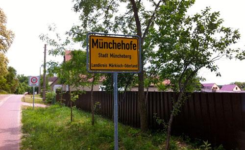 Ortsschild Münchehofe