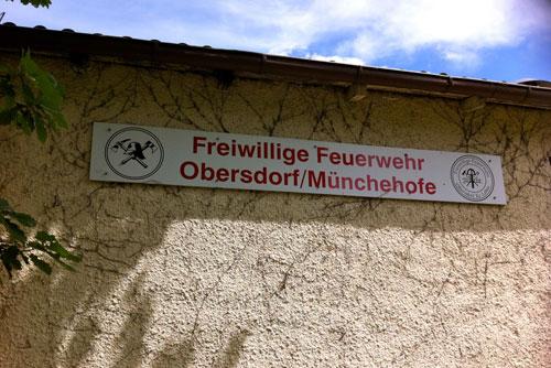 Schild Freiwillige Feuerwehr Obersdorf/Münchehofe