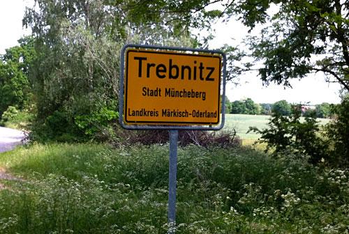 Ortsschild Trebnitz