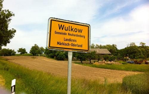 Ortsschild Wulkow
