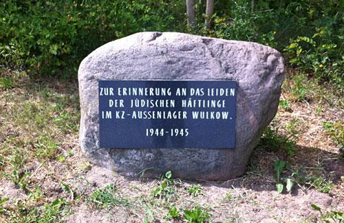 Gedenkstein beim ehemaligen KZ-Außenlager Wulkow