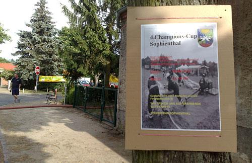 Plakat für Feuerwehr-Wettkampf