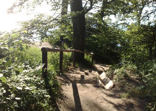 Treppenstufen auf dem Hochuferwanderweg