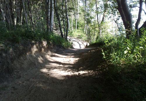 Hochuferweg bei Sellin