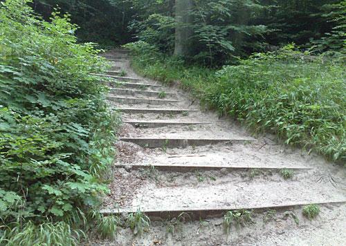 Treppen auf dem Hochuferweg
