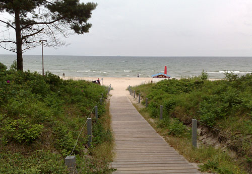 Strand und Meer bei Binz