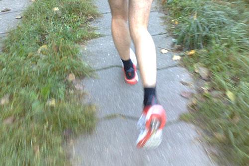 Wade eines Läufers beim Laufen
