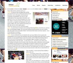 Bild der Website mit dem Läufer-Interview