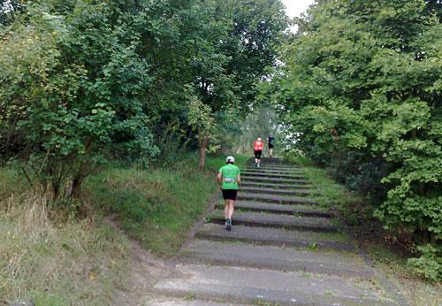 Läufer auf dem Rudower Dörferblick